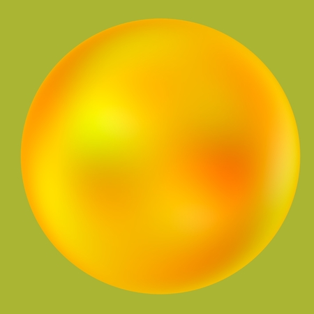 Balloon - Iridescent Abstract Yellow Ball - Pearl Bubble photo