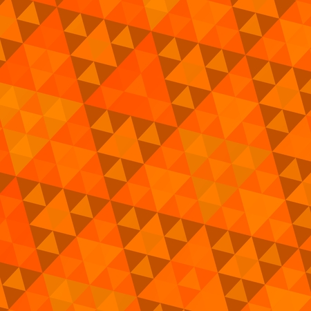 Orange Sierpinski Decorative Triangles Fractal Pattern - Retro Abstract Background photo