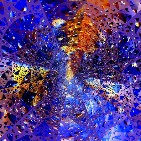 Abstract Shattered Glass - Digital Space Explosion - Extraordinary - Artistic photo