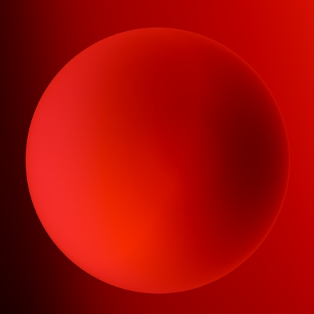 shadowed: Shaded Red Ball - Shadowed Round Sphere - Surrealism Stock Photo