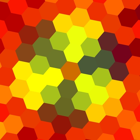 Abstract Geometrical Orange Background Pattern  photo