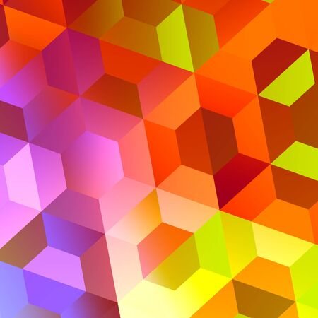 Abstract Colorful Hexagons Background Design  Stock Photo
