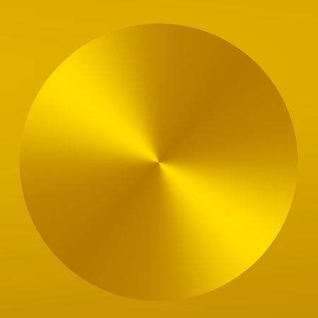 Yellow Isolated Button