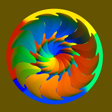 aegis: Abstract Colorful Isolated Round Wheel Illustration