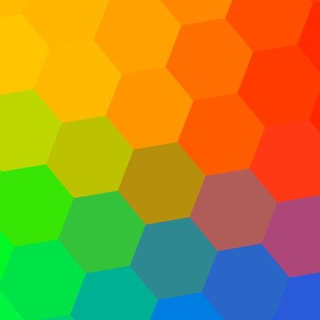Abstract Colorful Mosaic Rainbow Background  photo
