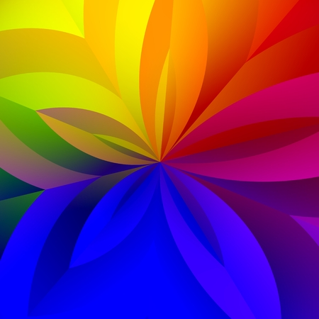 Colorful Abstract Rainbow Flower Petals Background