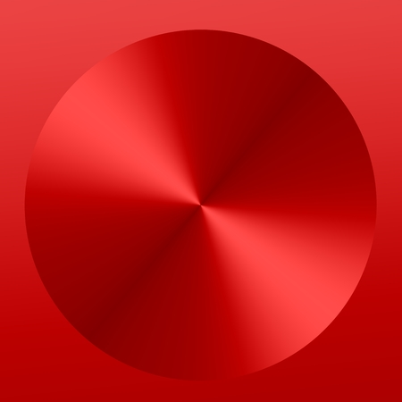 Red Abstract Metallic Button