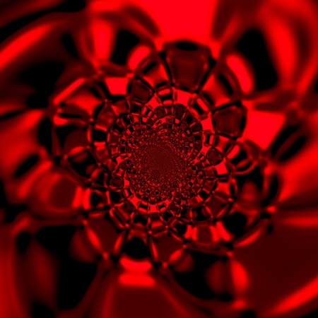 hallucinate: Red Abstract Fractal Background Design