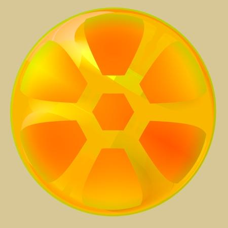Abstract Yellow Orange Fruit  Stock Photo