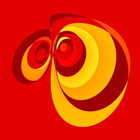 Abstract Red Emotional Cartoon Eyes - Scared Or Defenseless Looking Orange Eye - Sad Emotion Illustration - Big Depressed Face - Sharp Creative Drawing - Two Tired Funny Eyeballs - Caricature -