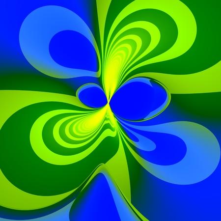 Abstract Green Blue Splash Background - Unique Artistic Spring Green Blots Pattern - Dynamic Spreading Blobs Illustration Design - Fancy Creative Art - Fresh Paint Splashing And Spreading - illustration