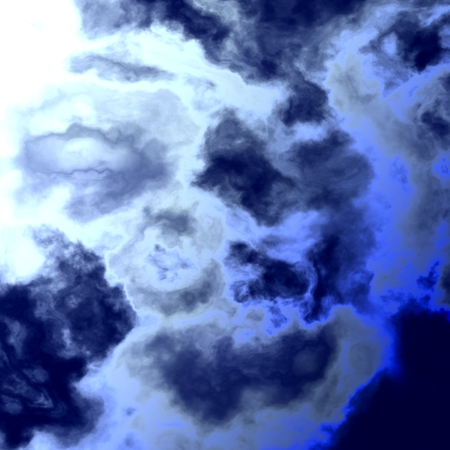 oneness: Abstract Bright Blue Sky With Water Clouds - Burning Summer Beach Sun Light - Ozone Destruction - Intense Radiation Explosion Stock Photo