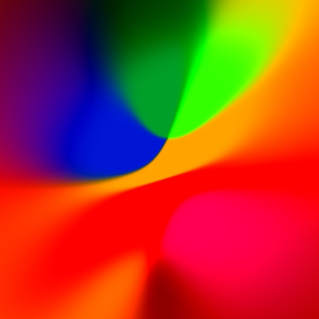 Abstract Colorful Blue Red Background - Fancy Creative Rainbow Colored Art - Blurred Elegant Colourful Illustration - Orange Blue Web Banner Backdrop - Simple Glowing Picture - Vivid And Vibrant Stock Photo