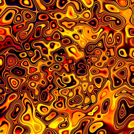 Abstract Creative Golden Chaos Fluid Background - Orange Liquid Reflections - Molten Artistic Plastic Pattern - Surreal Fantasy Grunge Bubbles - Crazy Gold Design - Spilled Mixing And Flowing Oil photo