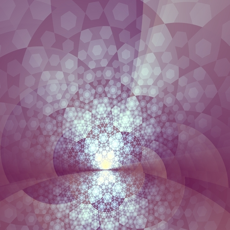 Abstract Artistic Bright Purple Glare Fractal Background - White Sun Light Digital Art Illustration - Unique Creative Visual Fantasy - Violet Psychedelic Abstraction - Bursting Alien Star Beams -