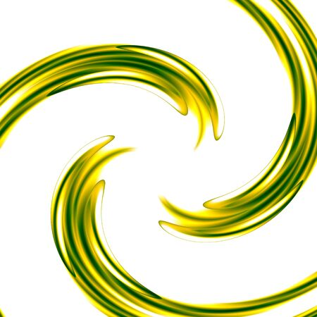 Abstract Art Background with Green Spiral - Concentric Ripples - Graphic Design Element - Swirl Illustration - Wet Paint - Color Splash Isolated on Bright White Backdrop - Artistic Designs - Spinning Liquid - Drain Vortex - Symmetric Background Warp