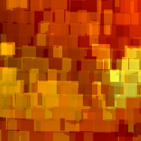 Abstract Orange Background for Design Artworks - Wallpaper Pattern - Overlapping Squares Concept Illustration - Repeating Geometric Tiles - Internet Web Business or Letterhead Paper Backdrop - Repetitive Texture with Yellow Reminder Notes - Many Stacked Stock Photo