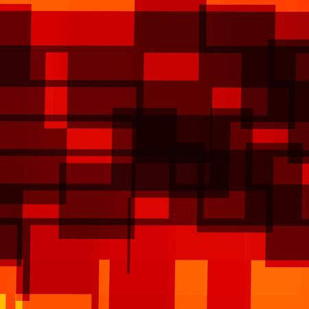 generative: Abstract Geometric Background - Red Orange Design Artworks - Generative Art Mosaic - Randomly Spread Shapes - Artistic Graphic - Surrealistic Illustration - Many Rendered Decorative Rectangles - Rectangle Shaped Elements - Business Presentation Backdrop - Stock Photo