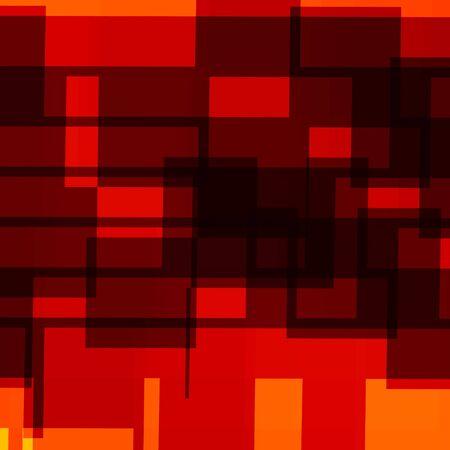 Abstract Geometric Background - Red Orange Design Artworks - Generative Art Mosaic - Randomly Spread Shapes - Artistic Graphic - Surrealistic Illustration - Many Rendered Decorative Rectangles - Rectangle Shaped Elements - Business Presentation Backdrop - Stock Photo