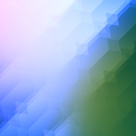 Semitransparent Overlying Shapes Forming Light Effects - Green Blue Abstract Background - Business Presentation - Blur Effect - Digital Design - Poster Flyer or Cover - Blurred Backgrounds with Copy Space and Surface Texture - Minimal Style - Blank