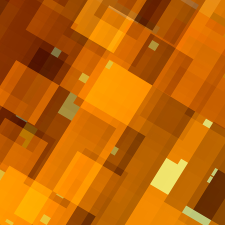 Abstract Background Pattern - Digital Art Design - Tiles Mosaic - Random Chaotic Lines and Shapes - Modern Flat Style - Warm Yellow Color Tone - Many Rectangles - Digitally Generated Image - Geometric Backgrounds - Flyer or Cover