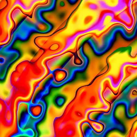 phantasmagoric: Colorful Abstract Chaotic Background - Red Blue Yellow Creative Art Illustration - Unique Design - Irregular Grunge Shapes - Artistic Spatter Backdrop - Unusual Image of Molten Vibrant Colour Pigment - Fluid Coloring - Digital Color Blots