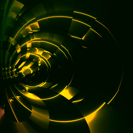 Green Abstract Futuristic Tunnel Background - Modern Sci Fi Illustration - Digital Artwork for Creative Graphic Design - Science Fiction Backgrounds - Time Travel Vortex - Strange Looped Warp Drive Trail - Unique Artistic Fantasy Image