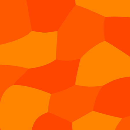 Abstract Flyer or Cover Design - Mosaic Background for Website - Orange Web Geometric Backdrop - Stylish Flat Art Illustration - Simple Decorative Pattern - Colored Polygon Concept - Wrapped Hexagons Banner - Digital Minimal Style