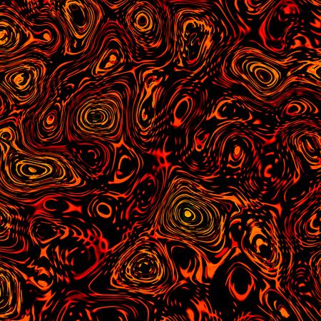 phantasmagoric: Abstract Thick Orange Black Liquid - Artistic Fantasy Background - Unique Digitally Generated Image - Random Irregular Shapes - Chaotic Oil Pattern - Unusual Art Illustration - Blob Spatter - Cola Color - Chaos Concept - Creative Design Artworks