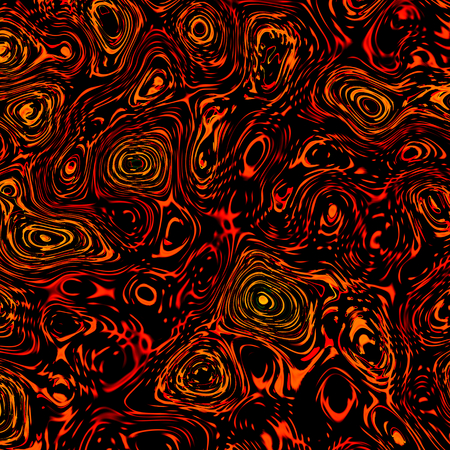 Abstract Thick Orange Black Liquid - Artistic Fantasy Background - Unique Digitally Generated Image - Random Irregular Shapes - Chaotic Oil Pattern - Unusual Art Illustration - Blob Spatter - Cola Color - Chaos Concept - Creative Design Artworks