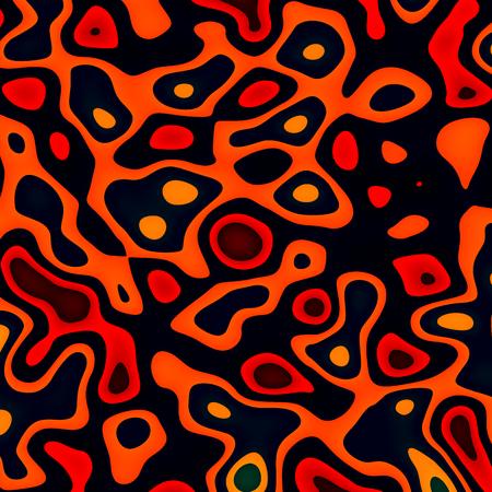 Ink Splat with Dark Background - Orange Paint Splashes - Abstract Cells in Mitosis - Molten Lava or Magma - Irregular Shapes Random Spread - Blob Spatter - Grunge Splats - Creative Concept Image - Unique Pattern Design - Art Splatter Foto de archivo