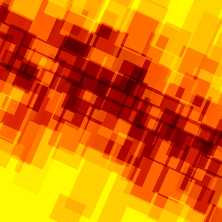 Abstract Background for Design Artworks - Orange Yellow Mosaic - Creative Digital Artwork - Random Spread Irregular Shapes - Blocks Tiles and Squares - Deco Art - For Stylish Business Presentation - Geometric Shape Backgrounds - Flat Illustration Foto de archivo
