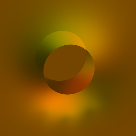 phantasmagoric: Flat 3d Isometric Hole - Abstract Orange Background - Modern Design - Soft Yellow Green Digitally Generated Image - Creative Art - Digital Illustration - Round Circle Shape - Artistic Style - Smooth Wall Drilling - Special Unique Artwork