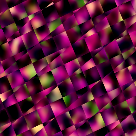 phantasmagoric: Abstract Purple Square Mosaic Background - Geometric Patterns and Backgrounds - Diagonal Lines Pattern - Blocks Tiles or Squares - Unique Creative Blur - Ornamental and Decorative Digitally Generated Image - Dark Stylized Digital Illustration