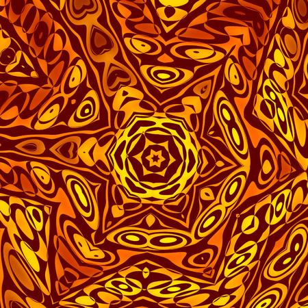 Resumen Fondo o del papel pintado - Henna Creative o Mehendi Decoración - Imagen generada digitalmente - Explosión Explosión - Artístico ilustración de estilo vintage - Naranja Amarillo Psychedelic Art - Sepia Forma de Estrella Tone - Concepto Único Foto de archivo - 36902486