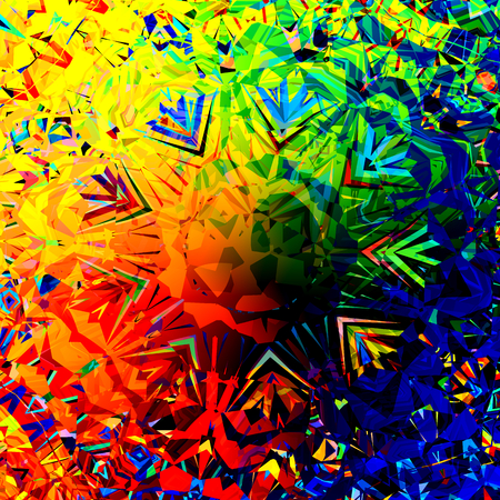 phantasmagoric: Colorful Digital Abstract Grunge Background - Digitally Generated Image - Creative Art Concept - Random Colored Shapes - Modern Geometric Pattern - Phantasmagoric Composition - Decorative Artistic Fantasy - Funky Stylized Graphic