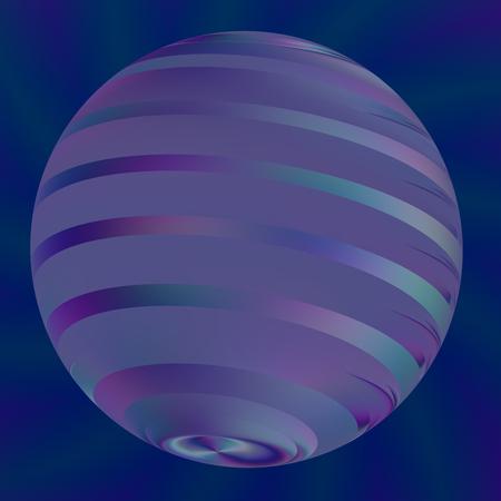 Blue Ball Ilustración - abstracto moderno 3d logotipo - semitransparentes efectos de luz - Fondos Forma geométrica - Obras Antecedentes - Arte digital creativo - Imagen generada digitalmente - Big perla o esfera en azul - Ronda Stripes Artificial Foto de archivo - 36902521