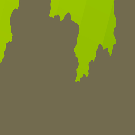 teared: Green Torn Paper on Plain Grey Background - Unique Abstract Design - Wall Surface - Wallpaper on Cement - Growing Algae - Digital Fractal Halloween Image - Minimal Style Ripped Cardboard - Cartoon Style Illustration - Teared Poster - Unique Creative