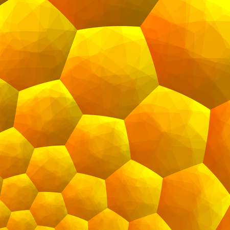 Abstract Fractal Background - Computer Generated Graphics - Inside of Honey Bee Hive - Hexagonal Geometric Backgrounds - Warm Yellow Color Tone - Unique Pattern Design - Quilt Patchwork - Hexagons - Artsy Decorative Texture