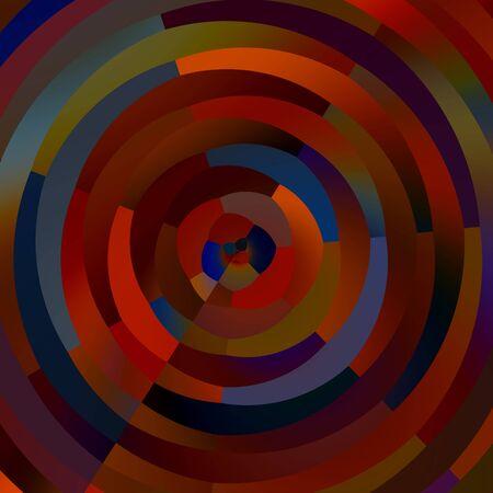 Weird Colorful Circles. Abstract Shapes Mosaic. Decorative Circle Stripes.
