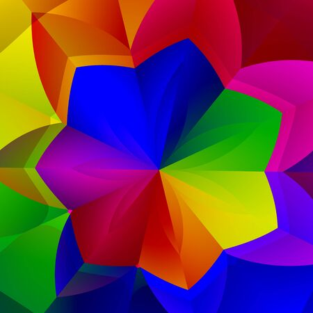 Artistic Vibrant Flower Shape. Colorful Abstract
