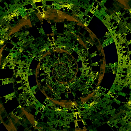 Beautiful Strange Digital Spiral. Abstract Fractal Art.