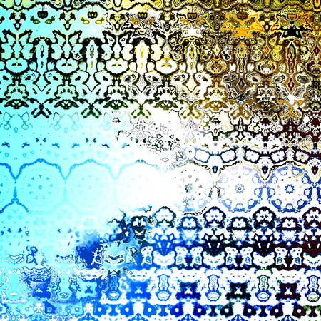 chromatic: Grungy Retro Artwork. Decorative Fabric Pattern. Abstract Art  Stock Photo