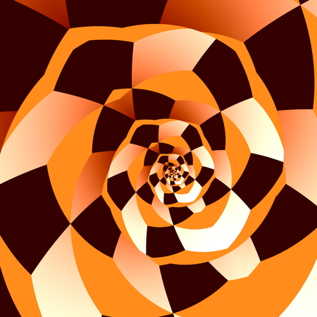 manipulated: Artistic Spiral. Abstract Recursive Art. Decorative Fantasy Background. Creative Ornamental Loop. Digitally Generated Psychedelic Graphic. Unique Surreal. Mosaic Effect Swirl. Hypnotic Infinite Structure. Funny Twirl. Colored Vortex Decoration. Artwork.