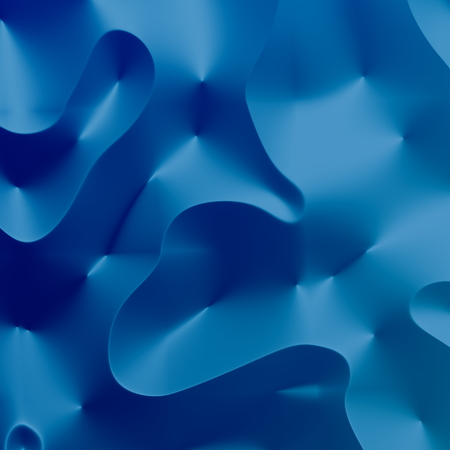 3D render. Graphic art background. Artistic wave effect. For abstract banner. Quality closeup picture. Blue paint illustration. Painting concept. Modern ripples composition. Ice cream creation. Colored blue decoration with nobody. Interesting web curves. Фото со стока