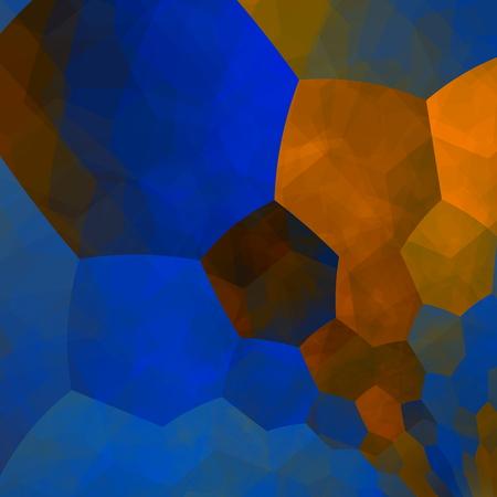Art illustration. Design element. Stylish elements composition. Different pattern. Tile background. Abstract round hexagon shapes picture. Creative blue idea. Computer screen graphic. Web designer image. Orange blue mosaic. Beautiful imagination backdrop. illustration