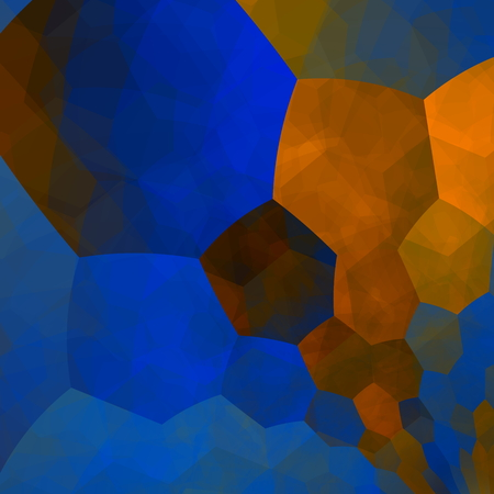 abstractly: Art illustration. Design element. Stylish elements composition. Different pattern. Tile background. Abstract round hexagon shapes picture. Creative blue idea. Computer screen graphic. Web designer image. Orange blue mosaic. Beautiful imagination backdrop.