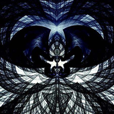 Géométrique image d'art en ligne. Deux colombes embrasser. Noir bleu blanc coloré élément de design. Beau fond. notion de symétrie de l'image. Résumé de style. Symbole ornement. Pour copie ou une affiche. structure de Détail. Message religieux. Modèle moderne et contemporain. Banque d'images - 41562800