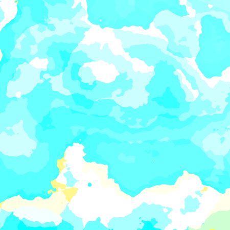 Bright summer day. Abstract fractal pattern design for banner or poster. Could be used for business card brochure cover or presentation. Cloud on blue sky. Creative art element. Scenery of beautiful soft clouds. Grunge effect. Sunny weather. Backdrop.