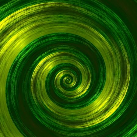 Creative abstract green spiral artwork. Beautiful background illustration. Monochrome fractal image. Web elements design. For internet  web. Round shapes. Digital futuristic art. Computer screensaver. Modern decoration. Stylized spiral structure. Effect.